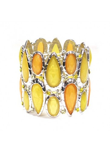 BH1415 Yellow costume fashion bracelet