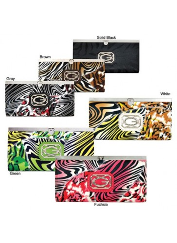 PKW 199 Fashion Zebra Print Patchworks Wallets