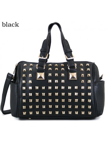 P168022 Fashion metal stud handbag
