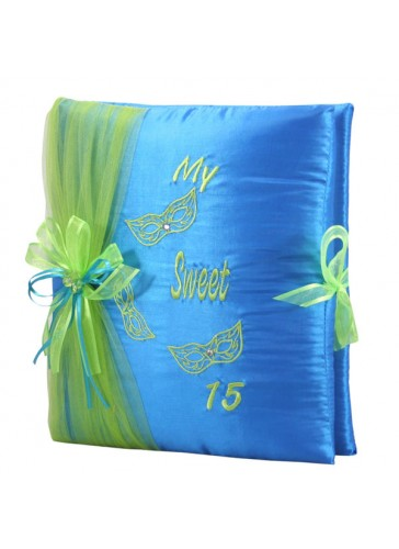 Quinceanera Photo Album Guest Book Kneeling Tiara Pillows Bible Q3093