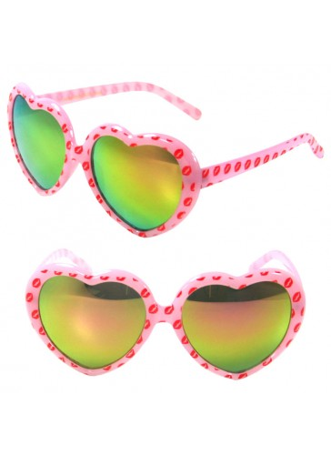 SSP6031 heart shape mirrored sunglasses