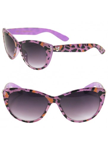 Exotic Animal Print Cat Eye Sunglasses SA27009
