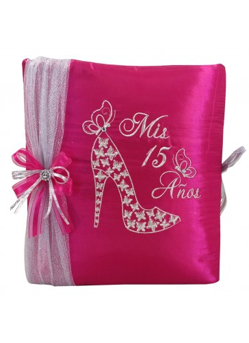 Quinceanera Photo Album Guest Book Kneeling Tiara Pillows Bible Q3148
