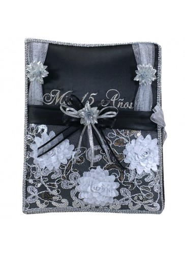 Quinceanera Photo Album Guest Book Kneeling Tiara Pillows Bible Q3153