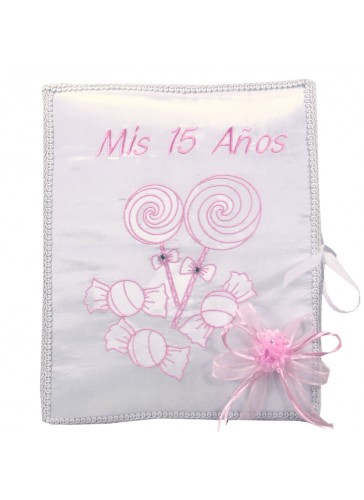 Quinceanera Photo Album Guest Book Kneeling Tiara Pillows Bible Q3156