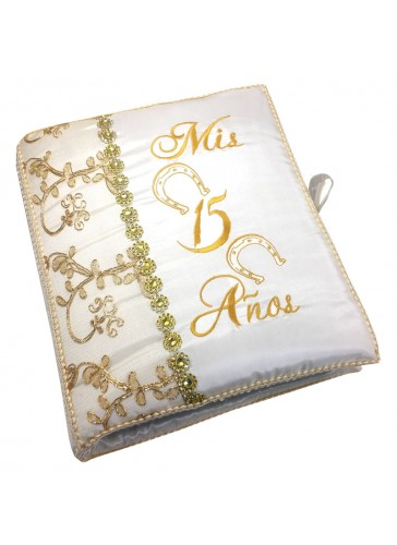 Quinceanera Photo Album Guest Book Kneeling Tiara Pillows Bible Q3159