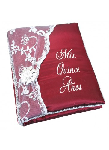 Quinceanera Photo Album Guest Book Kneeling Tiara Pillows Bible Q3160