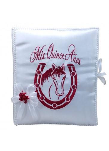 Quinceanera Photo Album Guest Book Kneeling Tiara Pillows Bible Q3161