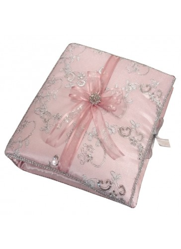 Quinceanera Photo Album Guest Book Kneeling Tiara Pillows Bible Q3173