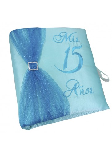 Quinceanera Photo Album Guest Book Kneeling Tiara Pillows Bible Q3178