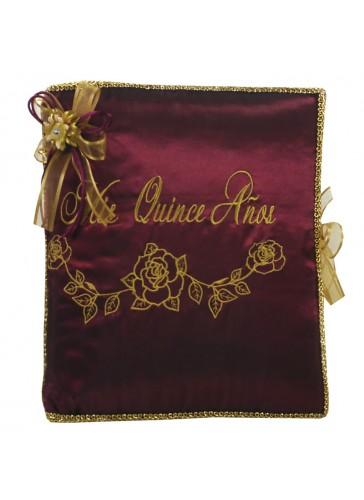 Quinceanera Photo Album Guest Book Kneeling Tiara Pillows Bible Q3179