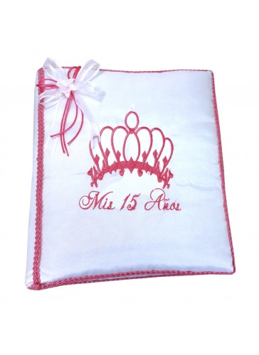 Quinceanera Photo Album Guest Book Kneeling Tiara Pillows Bible Q3180