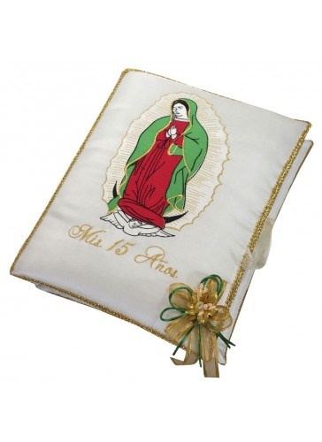 Quinceanera Photo Album Guest Book Kneeling Tiara Pillows Bible Q3187